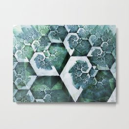 Fossilized Ocean Metal Print