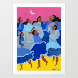 Dancing Waves Art Print
