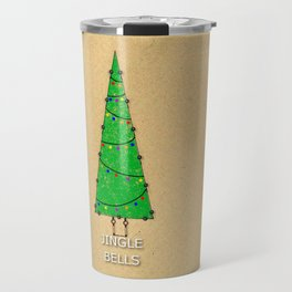 Vintage Christmas Tree  Travel Mug