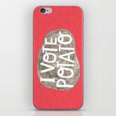 I VOTE POTATO iPhone & iPod Skin