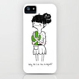 Cactus Hug by Sarah Pinc iPhone Case