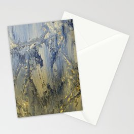 Blue strokes Stationery Cards