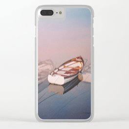 Moving softly Clear iPhone Case