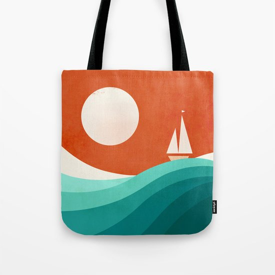 Wave (night) Tote Bag