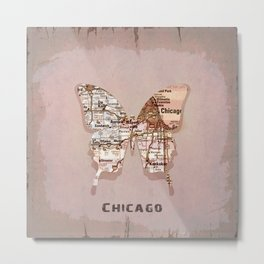 chicago butterfly Metal Print
