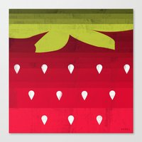strawberry Canvas Prints featuring Strawberry by Kakel