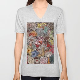 Clown fish and Sea anemones Unisex V-Neck
