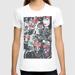 KR Black and black RX T-shirt