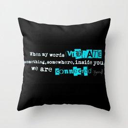 A Haiku on Connection Throw Pillow