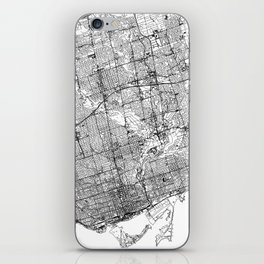 Toronto White Map iPhone Skin