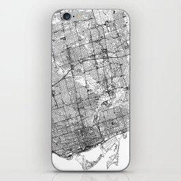 Toronto White Map iPhone Skin
