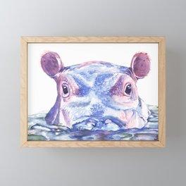 Happy Hippo Fiona Framed Mini Art Print