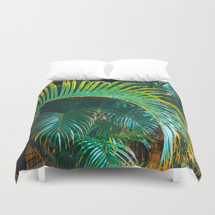 Pop Art Palms Duvet Cover