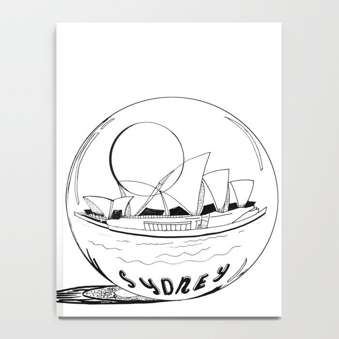 Sydney in a glass globe . art Notebook