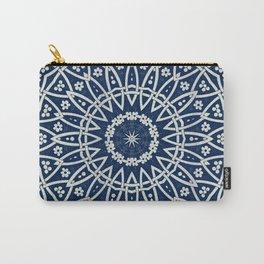 Mandala Bohemia Mosaic Navy Grey Carry-All Pouch