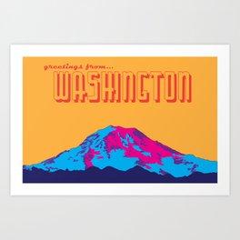 Greetings from Washington Art Print