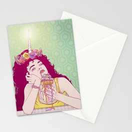Unicorn Freakshake Lady Stationery Cards