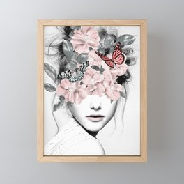 WOMAN WITH FLOWERS 10 Framed Mini Art Print