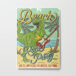 Beach Rock Party Metal Print