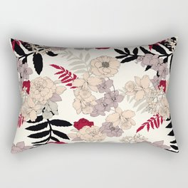 Sweet Floral neutral Rectangular Pillow