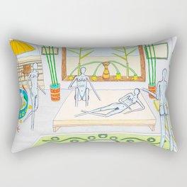 Ladies' night with a naked man Rectangular Pillow