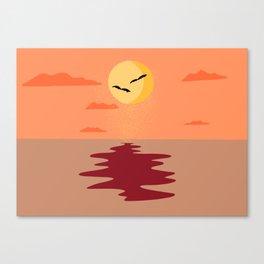 Halloween Edition moon on water Canvas Print