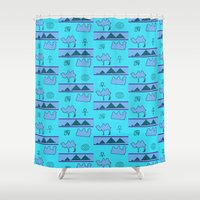 egypt Shower Curtains featuring Egypt by FarrellArt