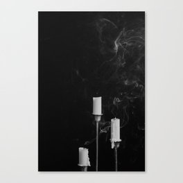 Three Candlesticks Canvas Print