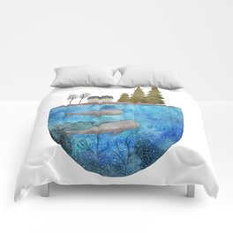 Whales are watching you Comforters