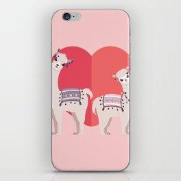 Llama and Alpaca with love iPhone Skin