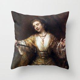 Rembrandt van Rijn Lucretia Throw Pillow