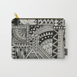 Retro Flower Doodle Carry-All Pouch