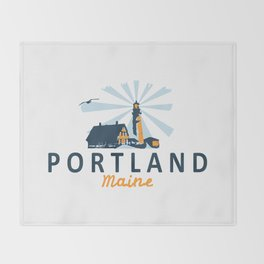 Portland Maine. Throw Blanket