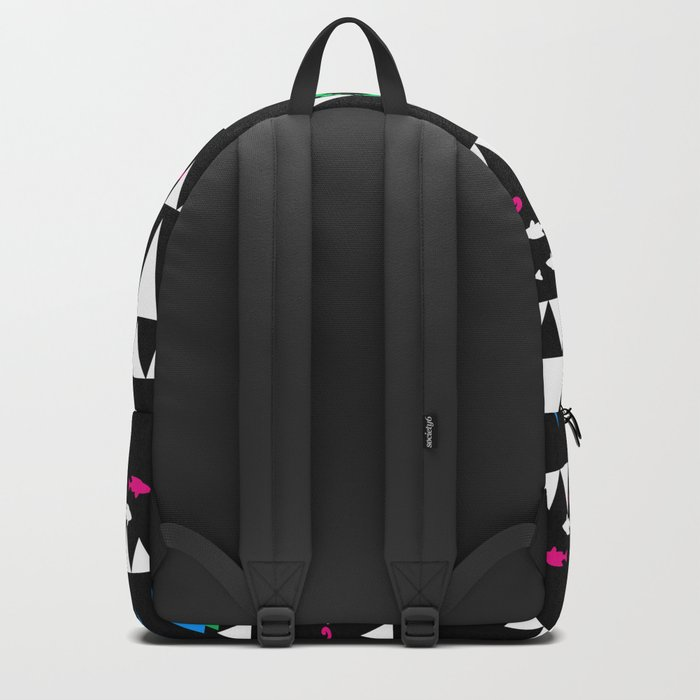 Ethnic simple pattern . Black . Backpack