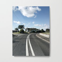 sweepy road Metal Print
