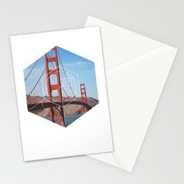 Golden Gate Bridge - Geometric Photography Stationery Cards