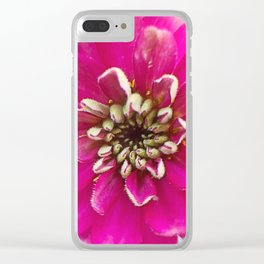 Pink Xenia in the round Clear iPhone Case