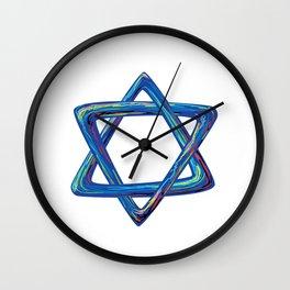 Shield of David. Star of David Wall Clock