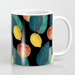 Apples And Lemons Black Coffee Mug