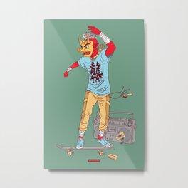 Red Yōkai Metal Print