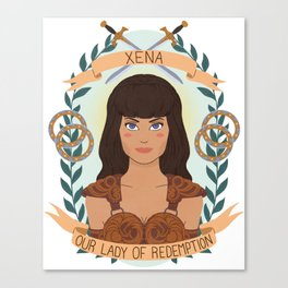 Xena Canvas Print