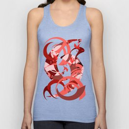 Abstract Curls - Burgundy, Coral, Pink Unisex Tank Top
