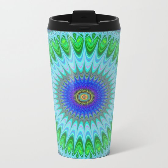 Happy star mandala Metal Travel Mug