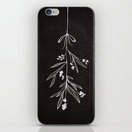 Chalkboard Art - Mistletoe iPhone Skin