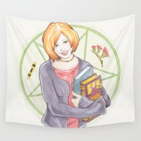 buffy Wall Tapestries featuring Willow Rosenberg of Buffy by A Rose Cast