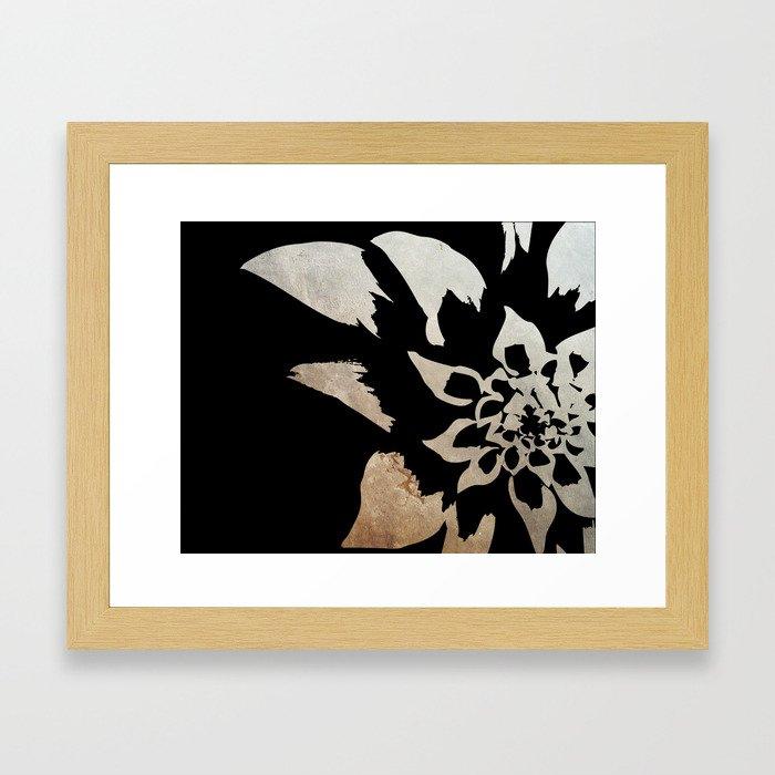 Dark flower Framed Art Print