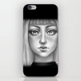 B&W Girl iPhone Skin