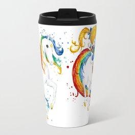 Rainbow Brite Watercolor Travel Mug