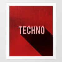 techno Art Prints featuring Techno by Barbo's Art
