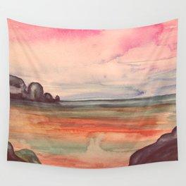 Melancholic Landscape Wall Tapestry